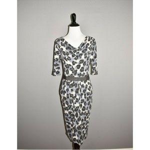 BANANA REPUBLIC Leopard Cowl Neck Dress